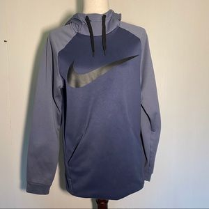 Nike Dri-Fit Hoodie Sweatshirt Blue, Grey & Black
